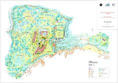 En Corse, Cargese. Malgré ses percées et ses terrasses, le projet conserve au site de 8 hectares son caractère de forêt impénétrable.