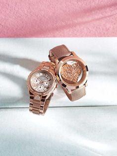 Rose Gold Sparkling Watch | GUESS.com