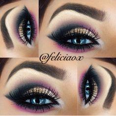 Love this unique look [ FaceToFaceWithViolett.com ] #bold #beauty #makeup
