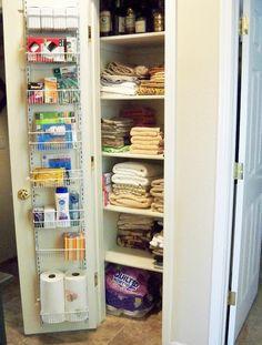 Organized Linen Closet | Closet small, Ironing boards and Organizing