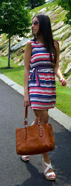 Nautically striped dress!