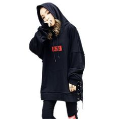 Embroidered hip hop black hoodie lace up sweatshirt with hood for teens Hooded Sweatshirts, Hoodies, Lace Sweatshirt, Streetwear Fashion, Black Hoodie, Rain Jacket, Hip Hop, Windbreaker, Street Wear