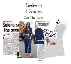 """""""Selena Gomez Wears Pajamas"""" by itsivanasmith on Polyvore featuring Dolce&Gabbana, women's clothing, women's fashion, women, female, woman, misses and juniors"""