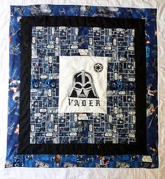 Darth Vader applique toddler quilt by ClarkQuiltnBeads on Etsy, $150.00