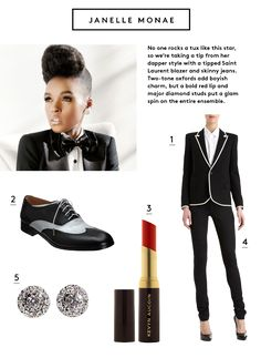 The Window – Countdown to Coachella: Style Inspiration from the Bands I don't know what this stuff is, but Janelle Monae is awesome