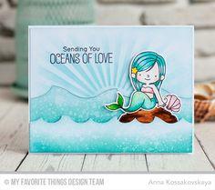 Handmade Mermaid card - My Favorite Stamps MFT Stamps