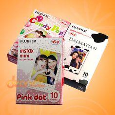 Fujifilm Instax Mini Film White Candy POP Dalmatian Pink Dot 7s 8 30 Photos SET