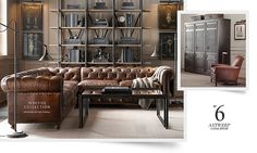 chesterfield sectional | Restoration Hardware