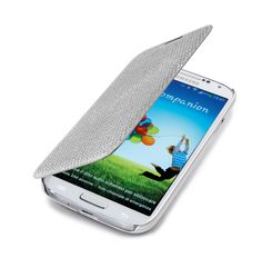 Book Glitter case for Samsung #Galaxy #S4.  #white #cellularline