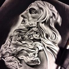 Working on this today, put a little twist on it! thanks for looking. #tattoo #spooky #blackandgrey #bnginksociety #pencil #work #WorldofArtists #worldofpencils #charcoal #graphite #stone #sculpture #bernini #jesus #realism #realistic #detail #art #artist #artfido #arts_mag #arts_help #art_empire #artoftheday #draw #drawing #drawingoftheday #create