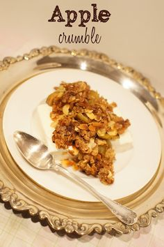 Apple crumble by lumo lifestyle, #apple, #dessert, #icecream