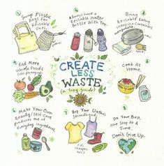 How to create less waste. Having a more zero waste approach to life Zero Waste, Reduce Waste, Vie Simple, Waste Reduction, Save Our Earth, Save The Planet, Reduce Reuse Recycle, How To Recycle, Flylady