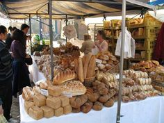 Gloucester Green Farmers' Market piles of bread, and people say I bake a lot!