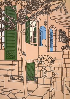 Patrick Caulfield- Simple architecture with a twist