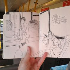 A generally younger crew on the bus today. A young girl was very taken by a elderly looking Jack Russell! Personal Project Ideas, Bus Drawing, Building Drawing, Sketches Of People, Bus Ride, Sketchbook Inspiration, Aesthetic Art, Old And New, Art Forms
