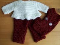 """Wild cherries and Cream - 18"""" doll pattern - Free Original Patterns - Crochetville"""