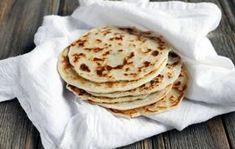 Pão indiano (naan) com 3 ingredientes - sem glúten