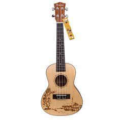Picea macizas Kmise 60,96 cm hawaiano de ukelele de concierto de guitarra acústica: Amazon.es: Instrumentos musicales Ukelele, Musical Instruments, Acoustic, Musicals, Hawaii, Stuff To Buy, Winter Wonderland, Walking, Free Shipping