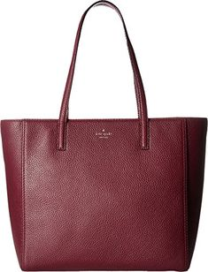 Kate Spade New York Women's Hines Street Hallie Plum One Size * You can find more details by visiting the image link. Kate Spade Handbags, Pebbled Leather, Tote Bag, Street, Classic, Plum, Image Link, Fashion Trends, York