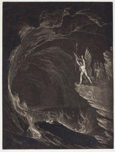 EPIC  John Martin, Paradise Lost - Satan Arousing the Fallen Angels (Book 1)   Dark Classics