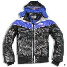 The North Face Men's Elysium Black/Blue Down Jacket