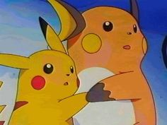 pikachu and raichu Pokemon Gif, Pokemon Eevee, Pokemon Comics, All Pokemon, Pokemon Fusion, Cute Pokemon, Gifs, Pikachu Raichu, Nintendo Characters