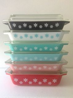 Vintage Pyrex JaJ Snowflake Gaiety Space by ThriftingTreasures, $1025.00 ....um wow!