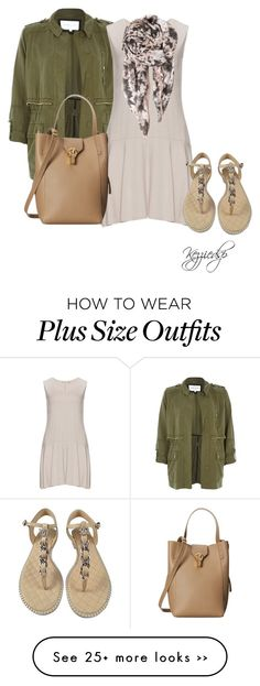 """""""Isolde Roth beige basic dress"""" by kezziedsp on Polyvore featuring River Island, Isolde Roth, Chanel, BeckSöndergaard and Oscar de la Renta"""