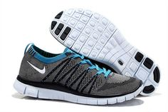 new style 7940c 123ac Men s Nike Free 5.0 Flyknit Light Carbon Gray blue Running Shoes Blue Grey,  Black White