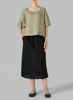 MISSY Clothing - Linen Half Sleeve Top