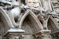Paris - Île de la Cité: Cathédrale Notre-Dame de Paris - Portail de la Vierge