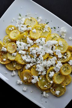 Simple Summer Squash with Thyme and Goat Cheese