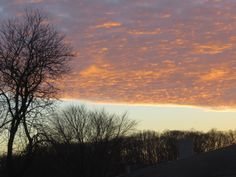 Christmas Day ends, sky over the Delaware River
