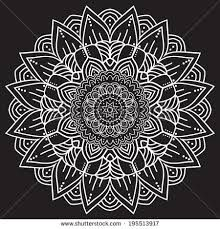 Image result for mandala art black and white