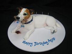 3D Jack Russell Cake