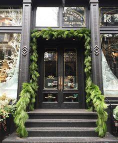 festive storefront in soho, new york city