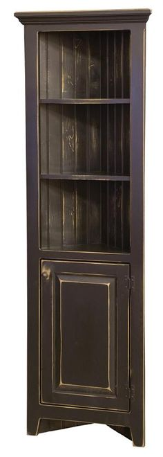 Black corner cabinet -- would love this in our bed room!