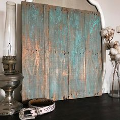 Wood Pallet Home Decor Accent patinated with Modern Masters Metal Effects | Project by Graycis