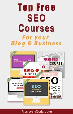 Ace the SEO for your blog and business! Find top free SEO Courses created by experts. Learn how to choose and use keywords. Optimize your on-page SEO, even use Google Analytics to track traffic and pages. These free SEO courses are perfect for entrepreneurs, bloggers and business owners. Hands On Jobs, Free Seo Tools, Seo For Beginners, Content Marketing, Affiliate Marketing, On Page Seo, Free Education, Google Analytics, Free Courses