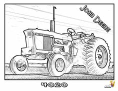 53 Best Gritty Tractor Coloring Pages Images Tractor Coloring