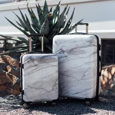 Planning a luxe vacation? Make sure your luggage matches the destination. The Astyll Marble Luggage Set hits new levels of luxe in the baggage department. This chic suitcase will become a part of your own personal style (and maybe your new favorite Kids Luggage Sets, Calpak Luggage, Small Luggage, Best Carry On Luggage, Cute Luggage, Suitcase Set, Carry On Suitcase, Designer Suitcases, Designer Luggage
