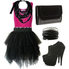 A fashion look from March 2012 featuring long pink shirt, flounce skirt and dressy boots. Browse and shop related looks. 80s Halloween Costumes, 80s Costume, Theme Halloween, 90s Fancy Dress, 80s Dress, Dress Up, 80s Theme Party Outfits, Look 80s, Tutu