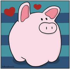 This Little Piggy, Little Pigs, Pig Images, Mothers Day Poems, Tout Rose, Pig Crafts, Pig Drawing, Pig Illustration, Pig Art