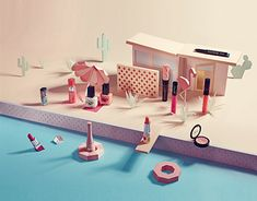 """Check out this @Behance project: """"Paper Set Design"""" https://www.behance.net/gallery/30076517/Paper-Set-Design"""