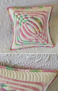 Raw edge applique- pillow