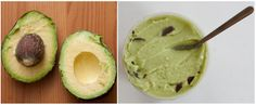 batido de aguacate - coconut-avocado ice cream with chocolate chips for crunch