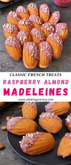 This easy French Madeleine recipe make the perfect afternoon tea sweets. The Classic Almond Madeleines are topped with a beautiful Raspberry Glaze and will be the perfect addition to any High Tea Food Madeleine Cake, Madeleine Recipe, Tea Sandwiches, Finger Sandwiches, Sweet Recipes, Snack Recipes, Dessert Recipes, Tea Party Desserts, Tea Party Cakes