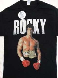 Rocky Boxing Movie Stallone Standing T-Shirt #Rocky #GraphicTee