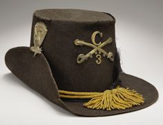 """US Enlisted Man's Dress Hat, Familiarly Known as the """"Hardee"""" Hat, this Scarce Piece of US Enlisted Regulation Headgear Was Worn by Many Units During the Civil War and Made Famous by The """"Black Hats"""" of the Renowned Iron Brigade."""
