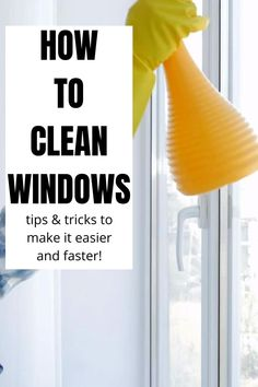 Cleaning windows can be a tedious chore but these tips and tricks will ensure you get great, streak free results quickly and easily! Fall Cleaning, Household Cleaning Tips, House Cleaning Tips, Cleaning Hacks, Window Cleaning Tips, Glass Cleaning, Apartment Cleaning, Deep Cleaning Tips, Homemade Glass Cleaner